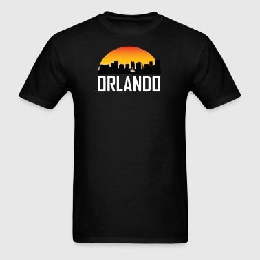 Sunset Skyline Silhouette of Orlando FL - Men's T-Shirt
