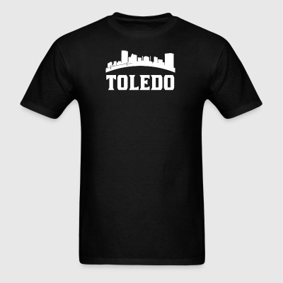 Vintage Style Skyline Of Toledo OH - Men's T-Shirt
