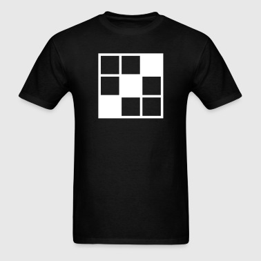 noughts and crosses grid with filled in squares - Men's T-Shirt