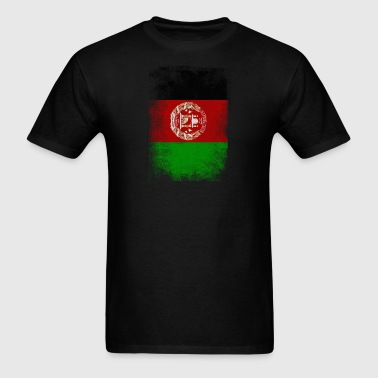 Afghanistan Flag Proud Afghan Vintage Distressed - Men's T-Shirt
