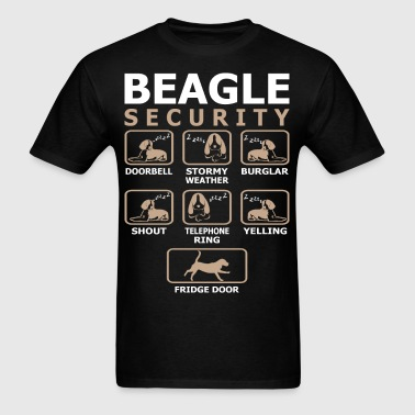 Beagle Dog Security Pets Love Funny Tshirt - Men's T-Shirt