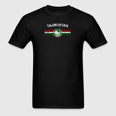 Tajik Flag Shirt - Tajik Emblem & Tajikistan Flag - Men's T-Shirt