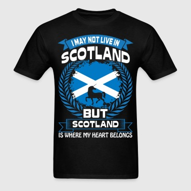 Scotland Is Where My Heart Belongs Country Tshirt - Men's T-Shirt