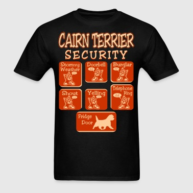 Cairn Terrier Dog Security Pets Love Funny Tshirt - Men's T-Shirt