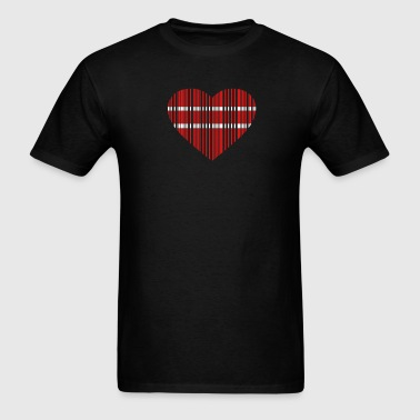 barcode love 2c - Men's T-Shirt