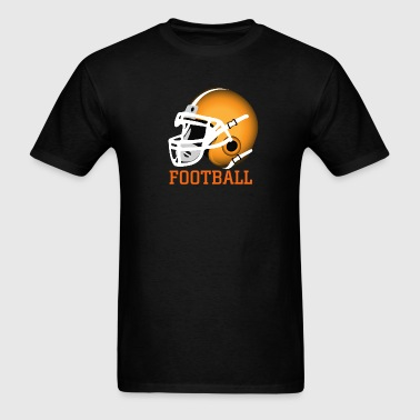 orange football helmet - Men's T-Shirt