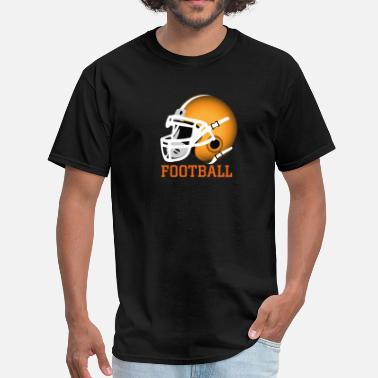 Helmet orange football helmet - Men's T-Shirt