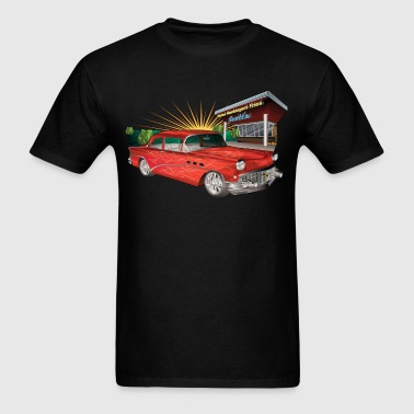 Red 57 Chevy Hot Rod - Men's T-Shirt