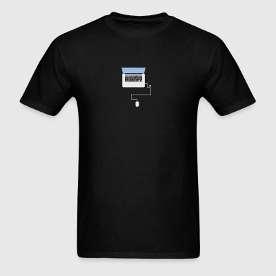 Laptop Illustration - Men's T-Shirt