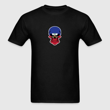 Haitian Flag Skull - Men's T-Shirt