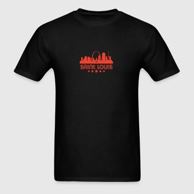 Retro Saint Louis Skyline - Men's T-Shirt
