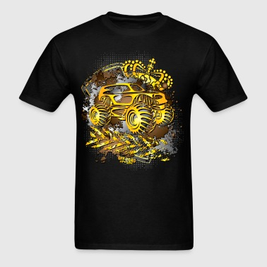 Golden Monster Truck - Men's T-Shirt