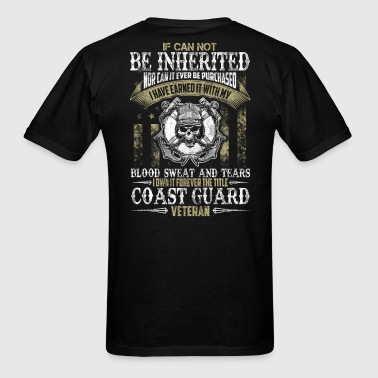 COAST GUARD VETERAN TITLE - Men's T-Shirt