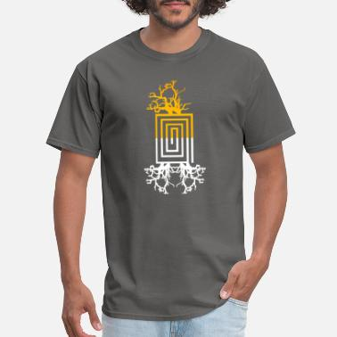 Tree Of Life Yellow and white tree art - Men's T-Shirt