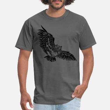 Owl Wing Flying owl with big wings. - Men's T-Shirt