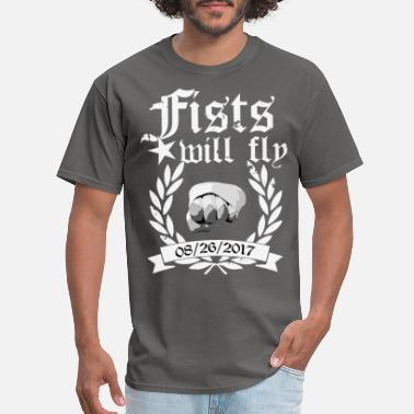 fists will fly black - Men's T-Shirt