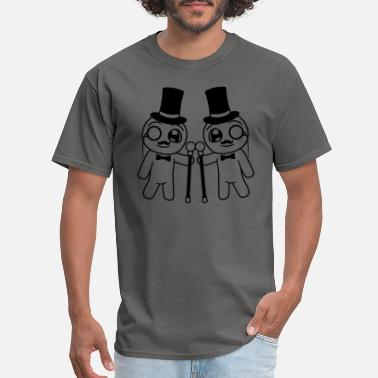 Stick team 2 friends couple gentleman sir gentleman cyli - Men's T-Shirt