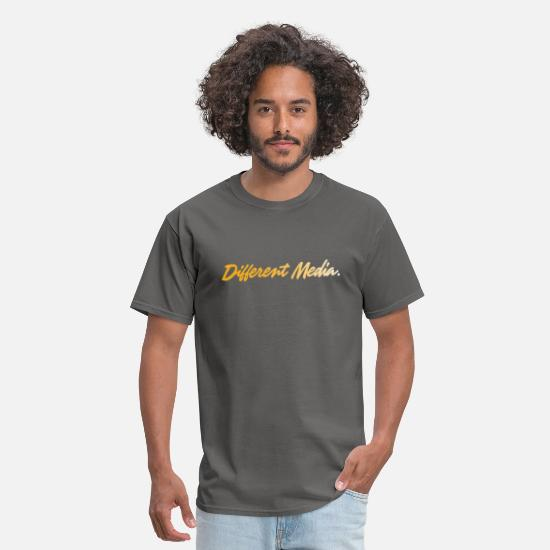 Gold T-Shirts - different media gold png - Men's T-Shirt charcoal