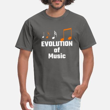 Human Evolution Music Evolution of Music - Music Fun Shirt - Men's T-Shirt