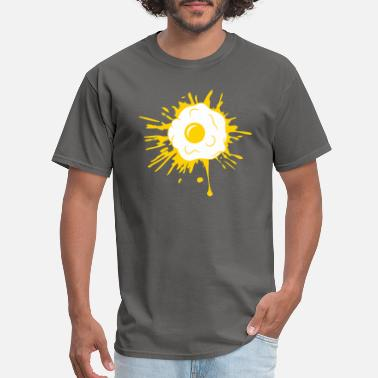 Fries drops blob graffiti color splatter fried egg cooki - Men's T-Shirt