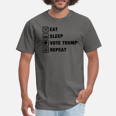 2024 Eat Sleep Vote Trump Repeat Election 2020 reelect - Men's T-Shirt