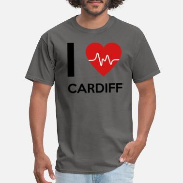 Cardiff I Love Cardiff - Men's T-Shirt