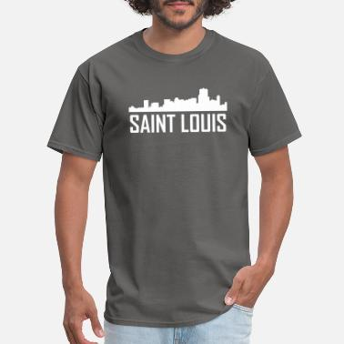 Saint St Louis City Saint Louis Missouri City Skyline - Men's T-Shirt