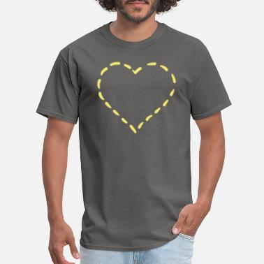Illustrator Abstract Heart Design - Perfect for Valentines D - Men's T-Shirt