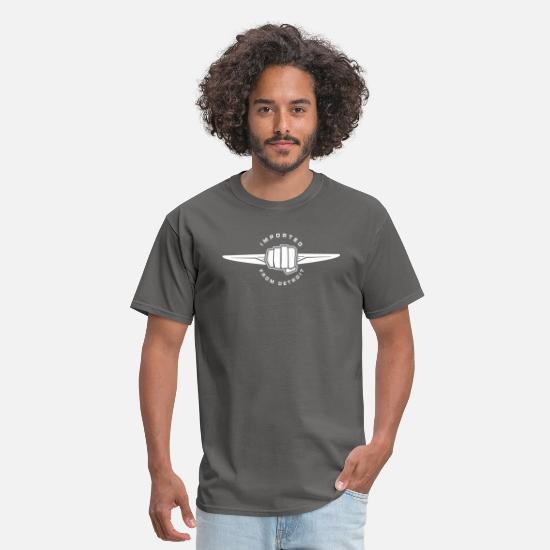 Detroit T-Shirts - Imported from detroit - Men's T-Shirt charcoal