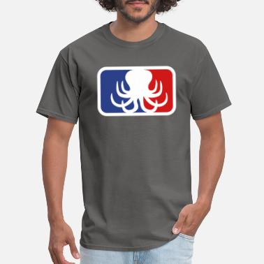 Sportauto sport logo octopus octopus cuttle cuttlefish squid - Men's T-Shirt