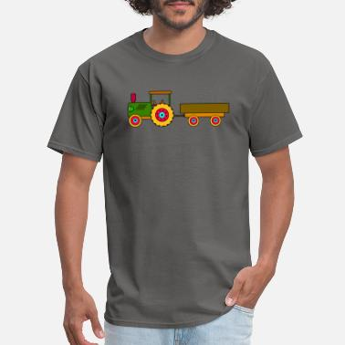 Tractor-trailer toy tractor with trailer - Men's T-Shirt