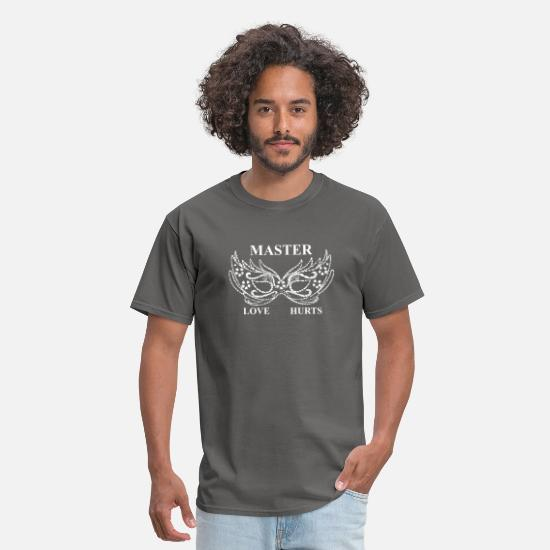 Submissive T-Shirts - Master Love Hurts - Men's T-Shirt charcoal