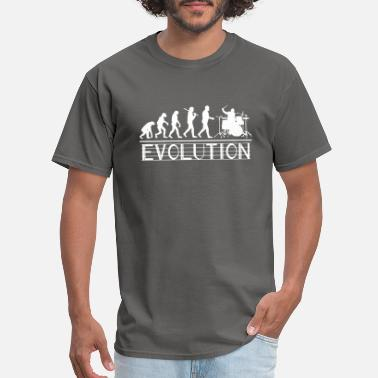 Evolution Of The Drummer Drummer Evolution - Men's T-Shirt