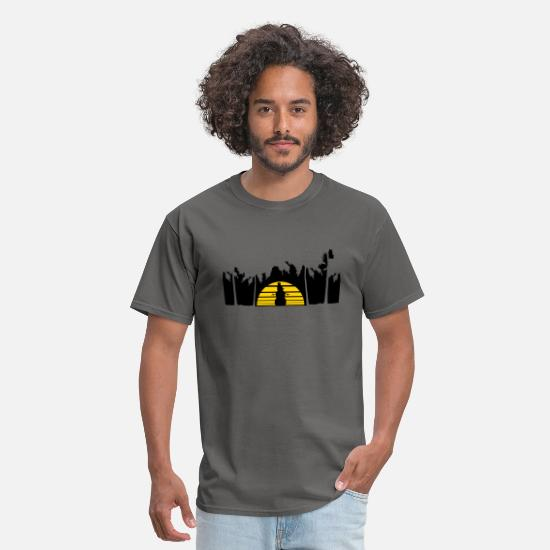 Mouse T-Shirts - holiday snowman vacation palms beach sea sun warm - Men's T-Shirt charcoal