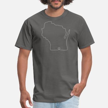 Wisconsin Heart WISCONSIN Heart - Men's T-Shirt