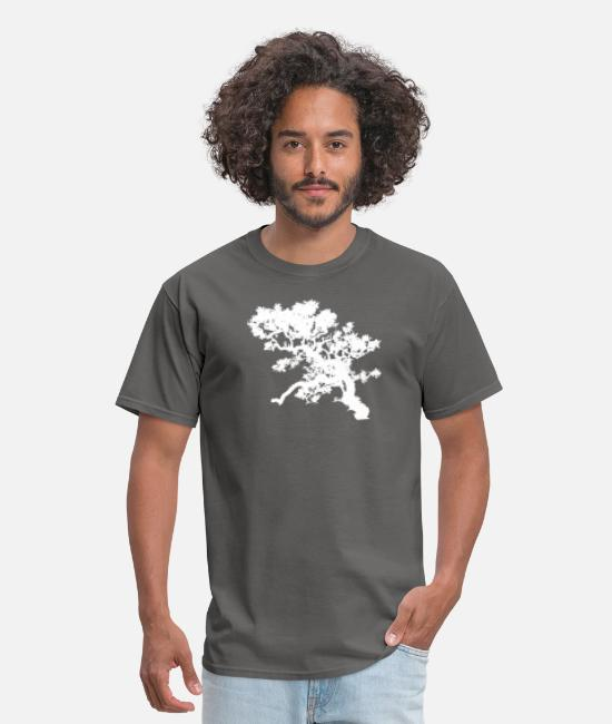 Nature T-Shirts - Bonzai Tree Small Nature Lovers Birthday Gift Tee - Men's T-Shirt charcoal