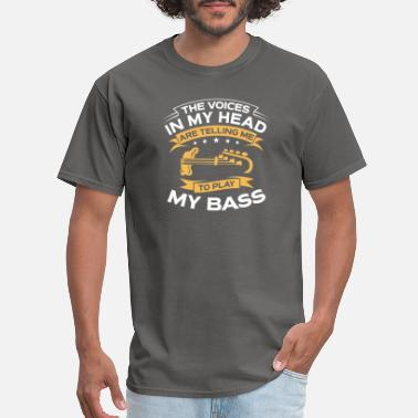 Taylor Guitars Funny Gift - The Voices In My Head Bass Guitar - Men's T-Shirt
