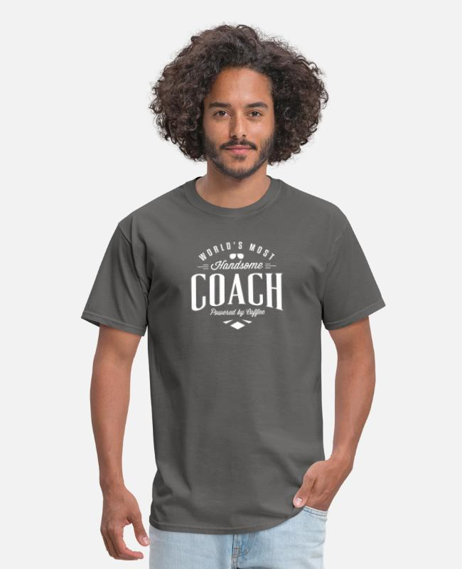 Ball T-Shirts - Fancy most handsome coach tshirt - Men's T-Shirt charcoal
