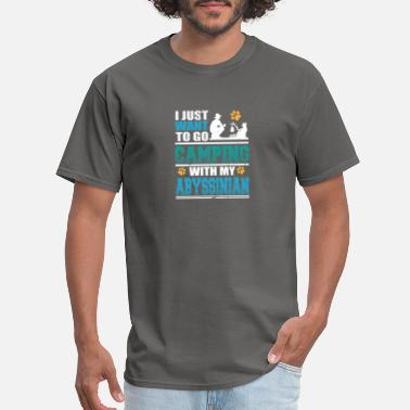 Abyssinian Camping with my Abyssinian Cat - Men's T-Shirt