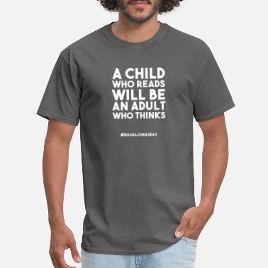Library BOOK LOVERS DAY FUNNY GIFT CHILD READING ADULT - Men's T-Shirt