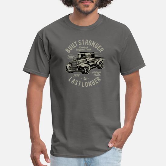 Built Stronger Last Longer T-Shirt Mens S-5XL Retro Truck Car Vintage America