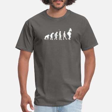 Tee Shirt Sweatshirts Light Orange Tuba Evolution T Shirt