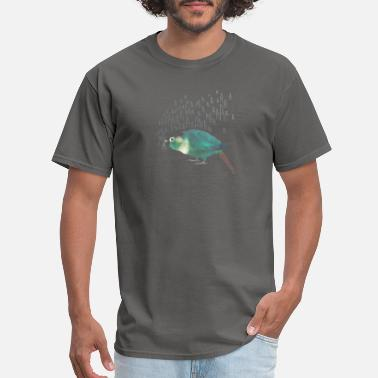 Cheeky Monkey Screaming Turquoise Green Cheek Conure T Shirt - Men's T-Shirt