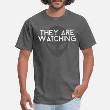 Ufo Hunter They Are Watching | Alien Space Stars Ufo Gift - Men's T-Shirt