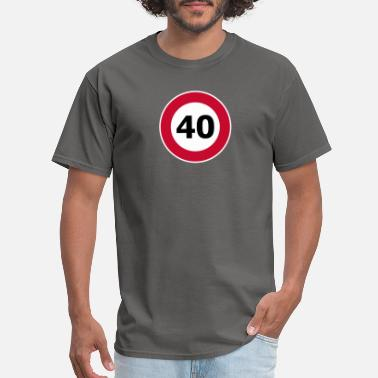 Speed Metal 40 Speed Limit funny tshirt - Men's T-Shirt