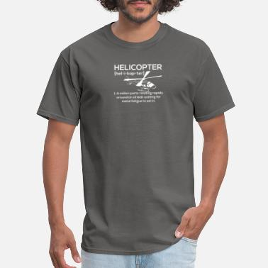 Helicopter Funny Helicopter - Men's T-Shirt