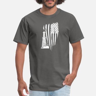 d4fdd3e8 OILFIELD AMERICAN FLAG T-SHIRT OIL RIG SHIRT PREM - Men's