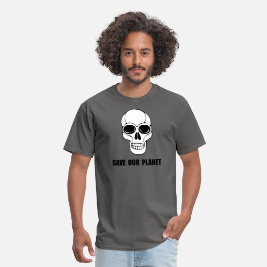 Death T-Shirts - Skull - Men's T-Shirt charcoal