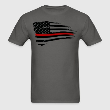 Thin red line firefighter flag - Men's T-Shirt