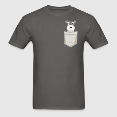 Schnauzer In a Pocket - Men's T-Shirt